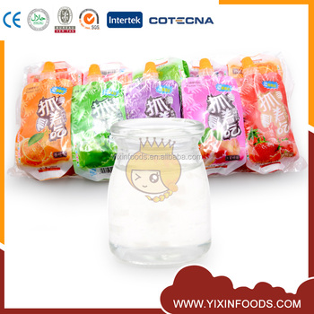 Fresh and delicious fruity flavored liquid juice candy in spout bag