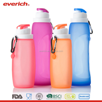 Everich BPA Free Foldable Silicone Collapsible Water Bottle for Travel