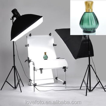 Portable Studio In A Box Still Life Photography 3 Head Lighting Shooting Table Kit Photo Chair Softbox