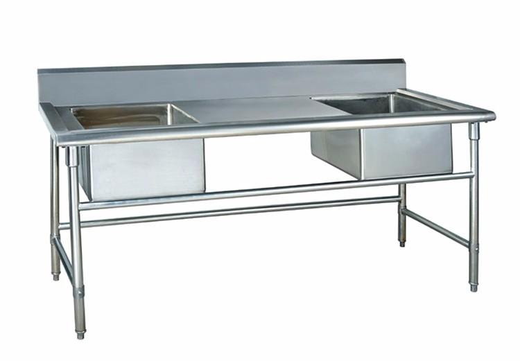 Tavolo Da Lavoro Acciaio : Metro cucina lavello in acciaio inox tavolo da lavoro in