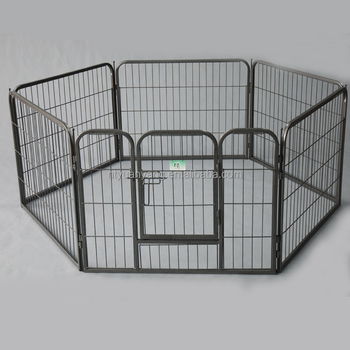 Portable folding outdoor dog playpen metal