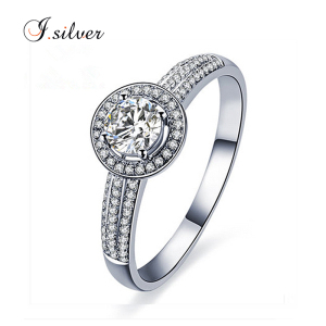 Fancy cz sterling 925 silver ring couple wedding rings R50031