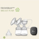 OEM logo printed food grade silicone shield painless hands free electric double breast pump