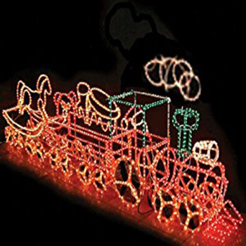 christmas rope lighting. 3D Christmas LED Lights Rope Lighted Outdoor Train Lighting