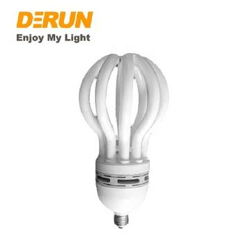High Power 125w Lotus Cfl Lamp 6t 5u Lotus Energy Saving Light Bulbs