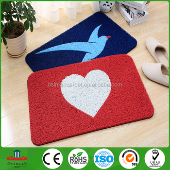 China Outdoor Doormat Entrance Floor Logo Plain Anti Slip Carpet Coil Roll Embossing For Home