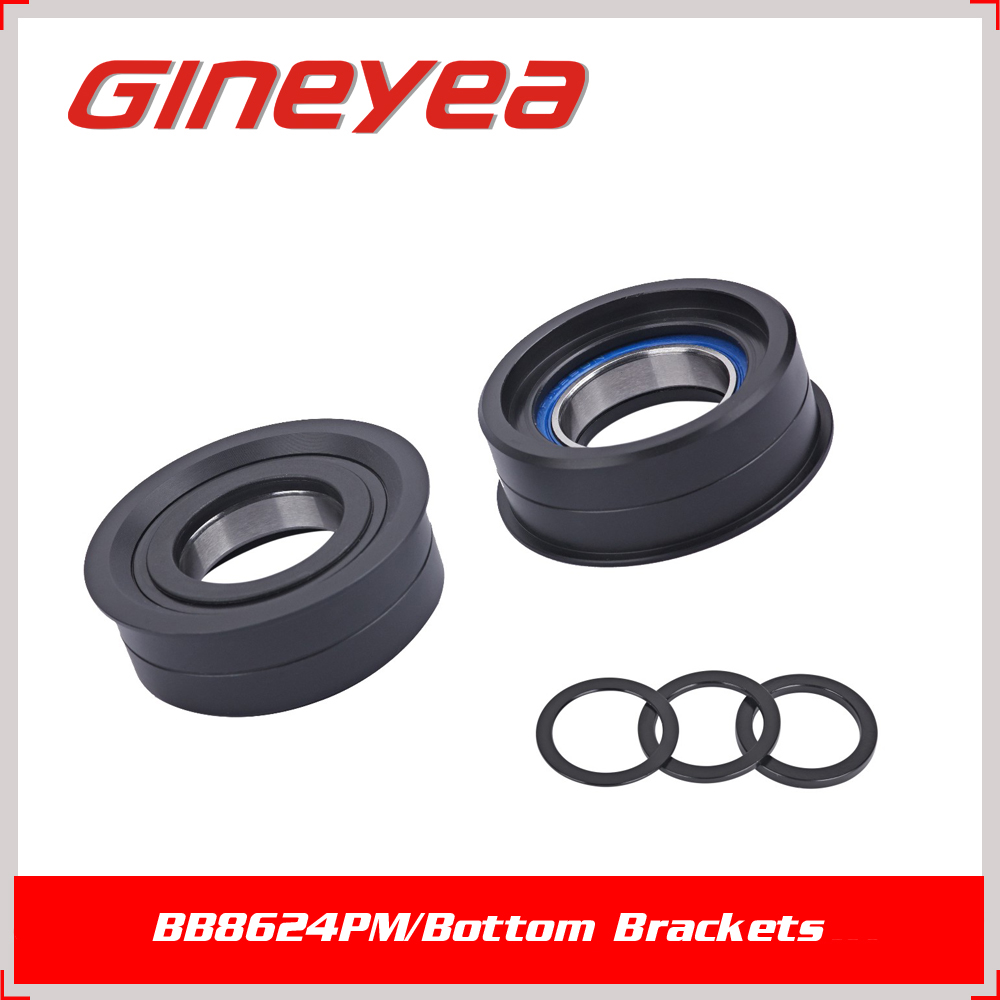 GINEYEA 86mm/92mm press fit sealed bearing BB8624PM through axle bicycle  bottom brackets for Road bicycle/MTB, View bottom brackets, GINEYEA Product