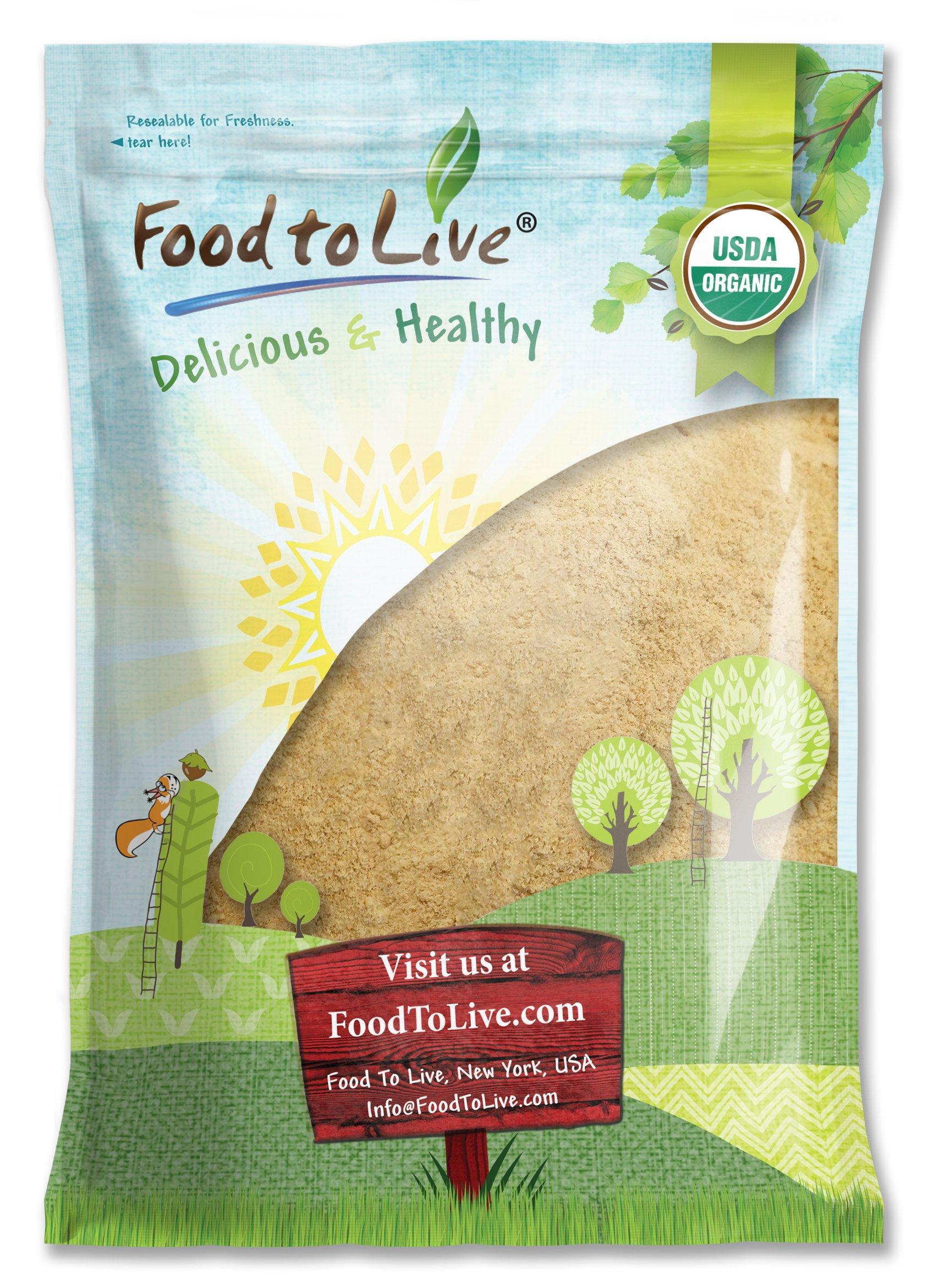 Food to Live Certified Organic Maca Powder (Gelatinized, Non-GMO, Kosher, Bulk) (8 Pounds)