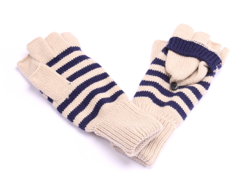 High quality cute acrylic winter knitting gloves