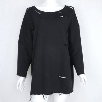 B12584a Europea Dame Löcher Off schulter Pullover Sweatshirts Buy Löcher Pullover Sweatshirt,Damen Löcher Sweatshirts,Plain Pullover Sweatshirts