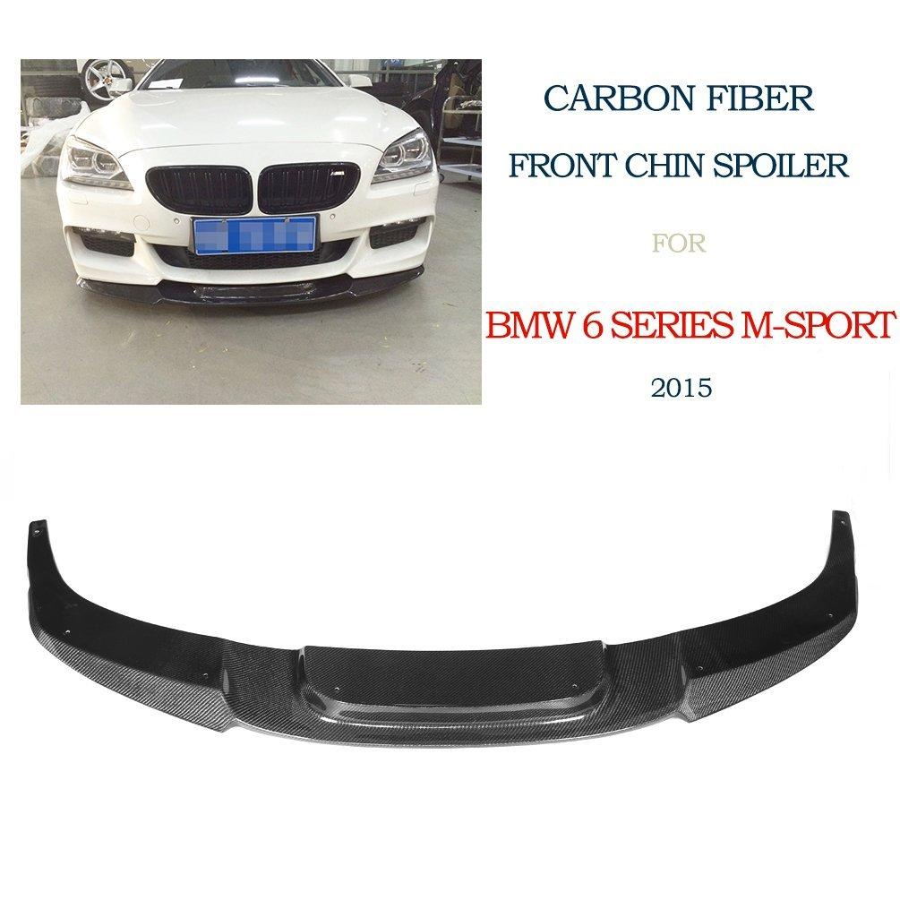 JCSPORTLINE Carbon Fiber Front Chin Spoiler for BMW 6 series M-Sport Bumper 2015