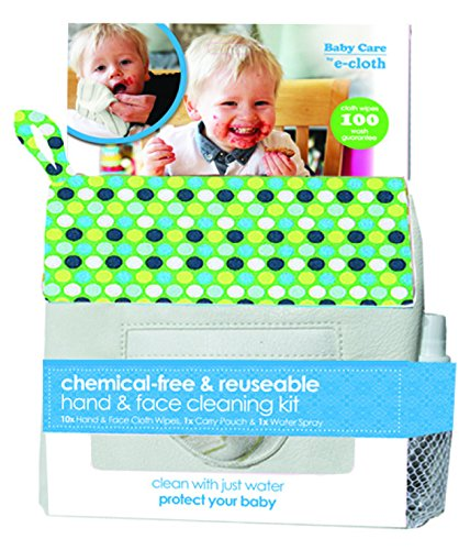 e-cloth Baby Cleaning Kit - Chemical-free & Reusable Hand & Face Cleaning Kit 13pc - Polka Dots