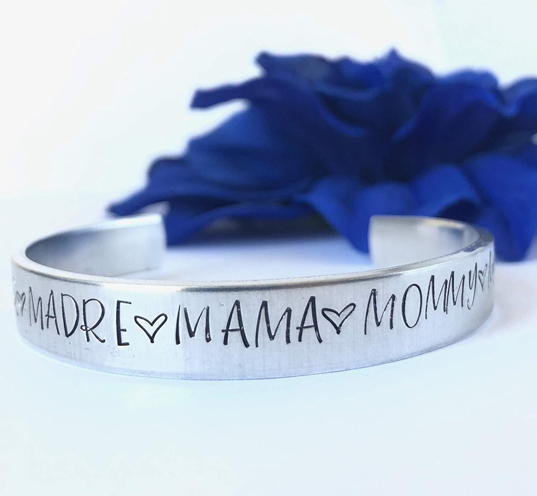Mom Cuff Bracelet | Mommy Bracelet | Mama | Madre | Ma | Cuff Bracelet | Aluminum Bracelet