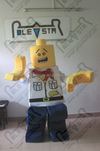toys LEGO mascot costumes cartoon kids blocks building mascot costumes game walking actor