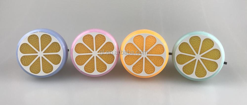 GL-W083 4SMD US EU mini switch plug in Fruits orange Shape night light For Baby Bedroom wall decoration