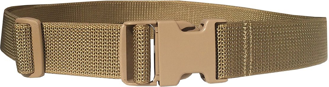 "Fire Force 1½"" X-Lrg Web Belt with Military Side Release Buckle Heavy Weight Scuba Nylon Webbing Made in USA"