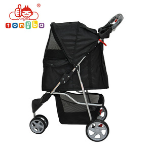 3 Wheels Deluxe Folding Oxford Pet Travel Stroller