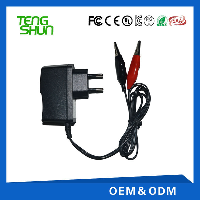 6v 800ma 1a smart automatic lead acid battery charger for 6v 4ah 7ah battery
