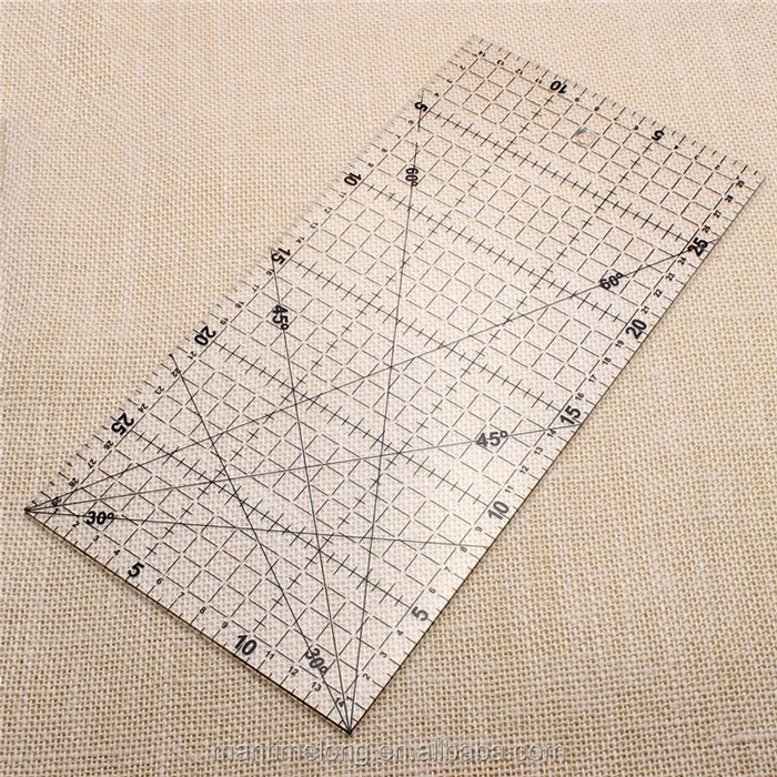 Sewing Patchwork Ruler 3MM Thick Transparent Patchwork Foot Handmade DIY Essential Dedicated Patchwork Tools 15 * 30CM