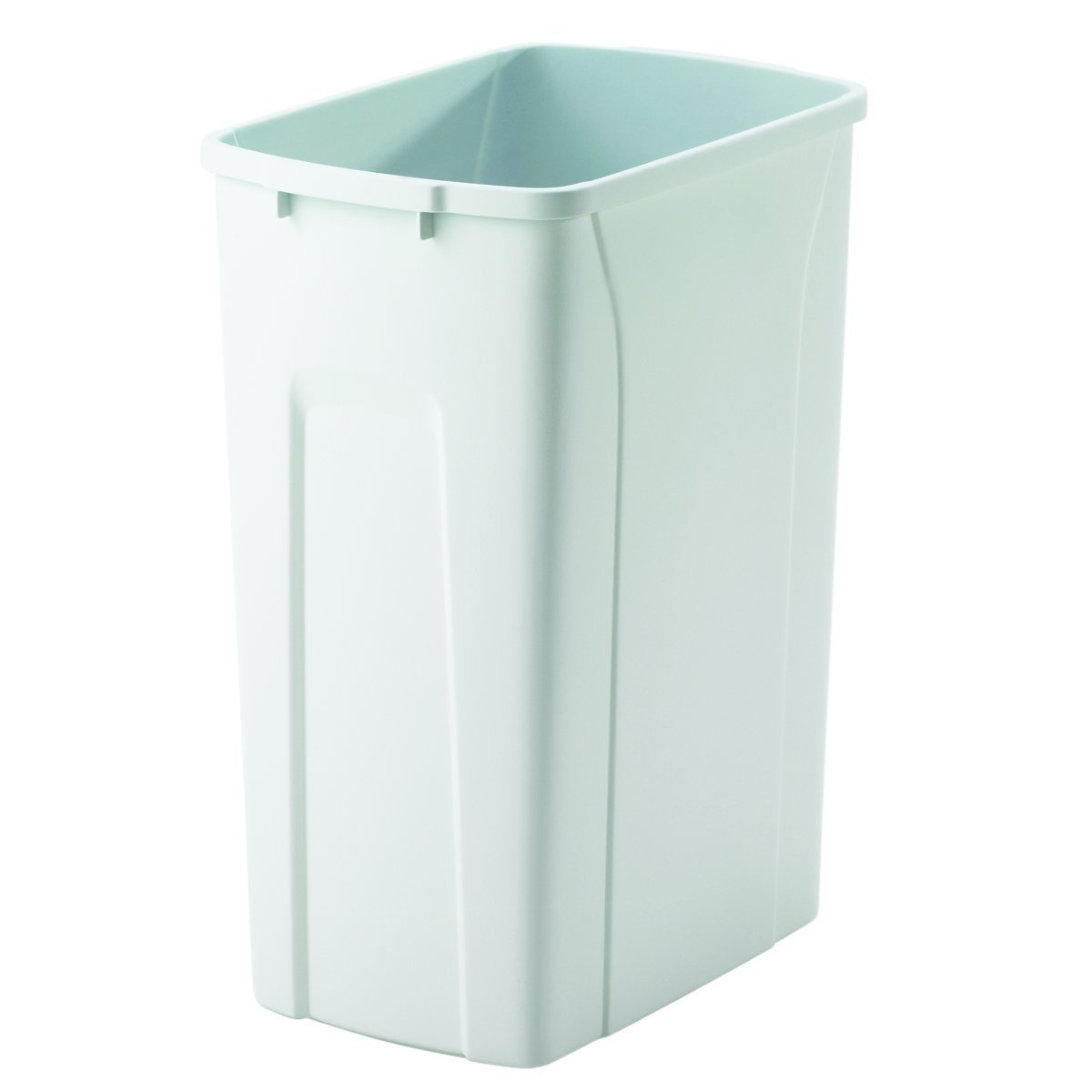 """Knape & Vogt QT35PB-WH Replacement Trash Can, 17.5"""" by 14.25"""" by 9.32"""""""