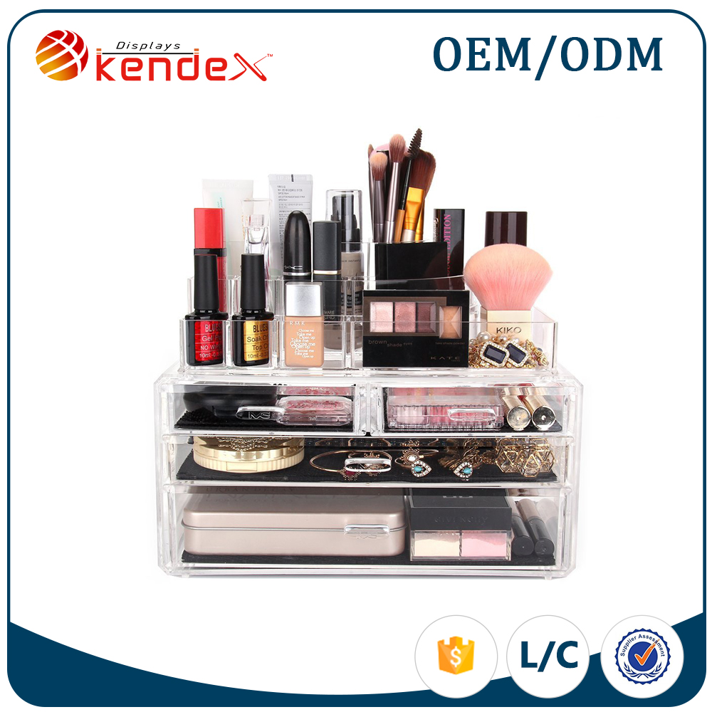 4 layers clear acrylic cosmetics and beauty products display oraginzer from reliable supplier