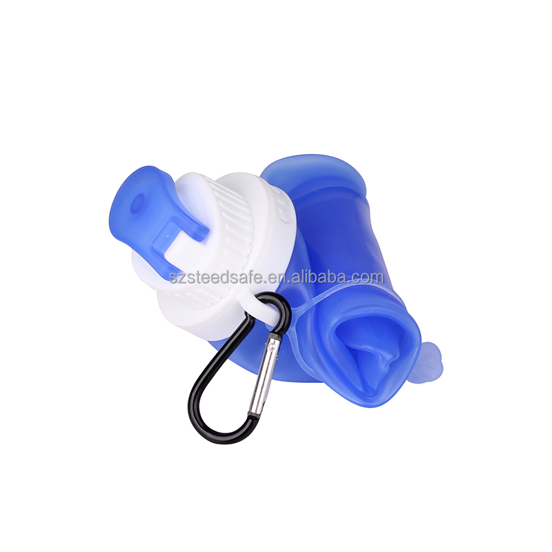 Hot promotion high quality foldable water bottle plastic water bottle foldable bottle for gift
