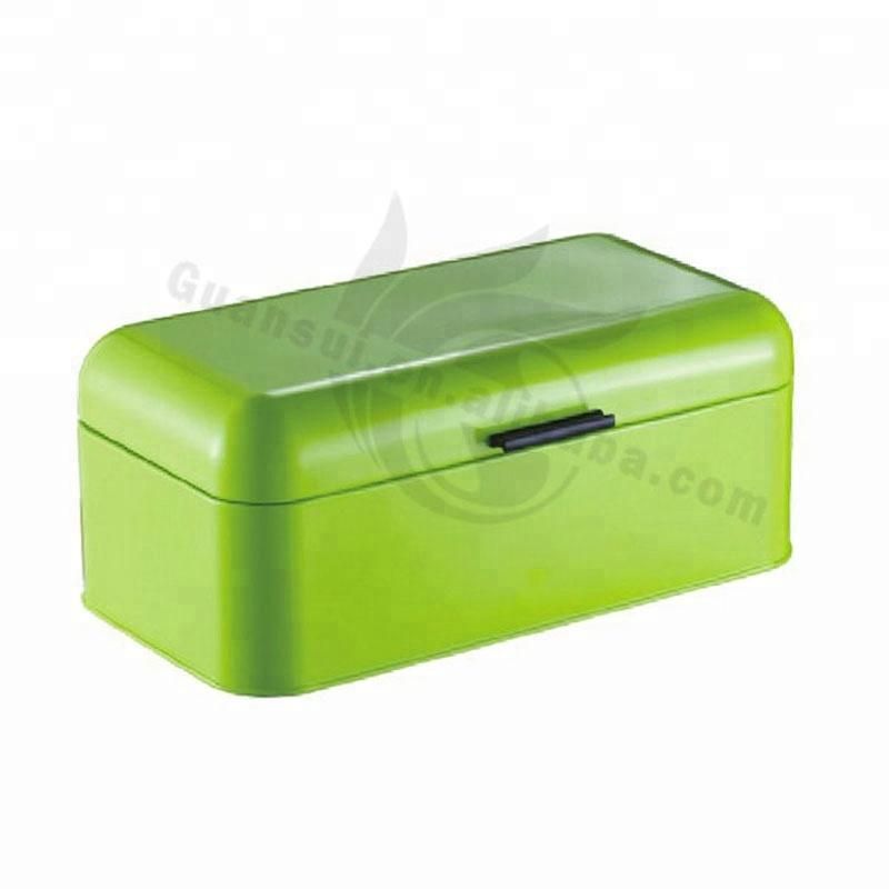 स्टेनलेस स्टील नई डिजाइन बहु-रंग बड़े भंडारण क्षमता धातु टोस्ट रोटी बॉक्स