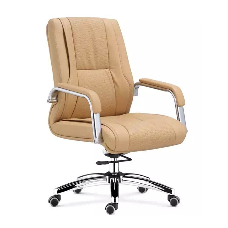 Cheap Modern Office Chairs: Stainless Steel Frame Leather Swivel Chair Modern Green
