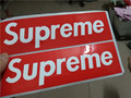 300 pcs lot Supreme sticker SUP red big size 19x5 8cm waterproof and oilproof computer glass