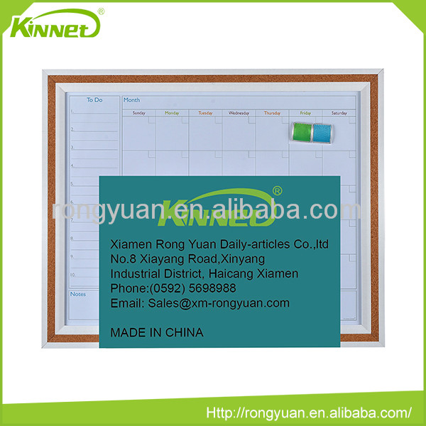 OEM custom cheap magnetic calendar printing dry erase board