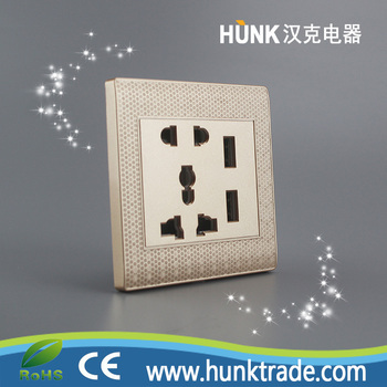 Double Usb 2 Gang Electric Wall Plug Faceplate 2 Usb Outlets