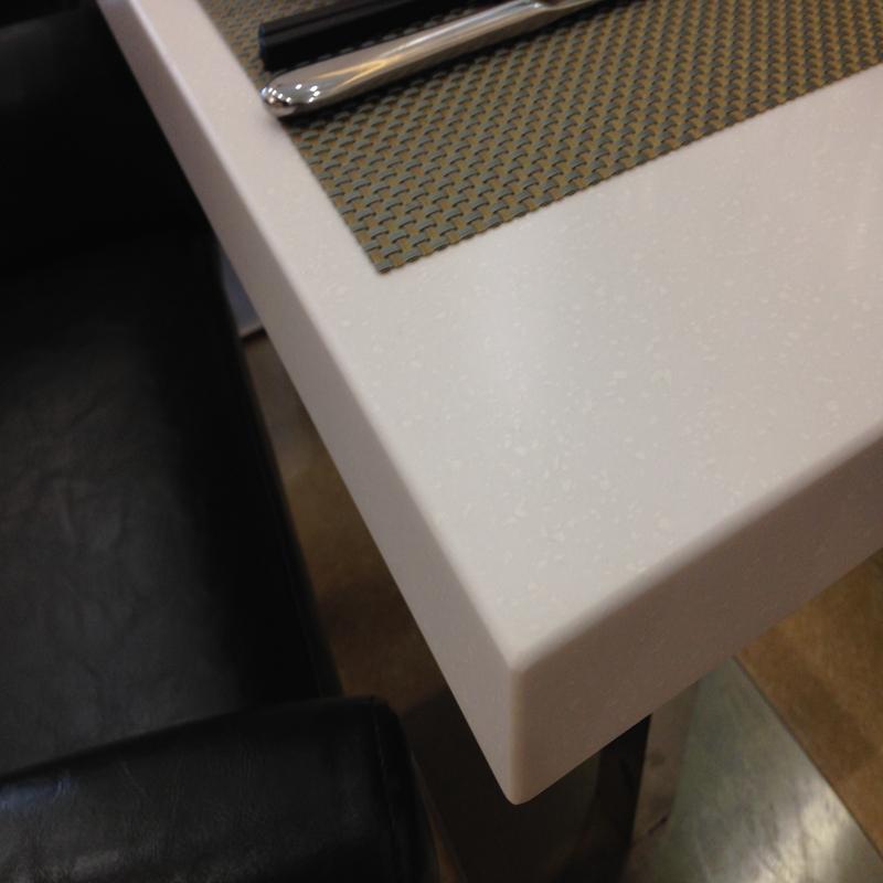 weißes quadrat hochglanz einziges bein 2 sitzer esstisch-esstisch, Esstisch ideennn