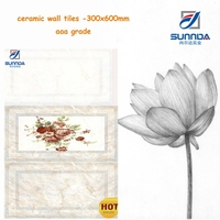 30x60cm best selling factory price new design glazed ceramic wall tiles for kitchen and bathroom decoration