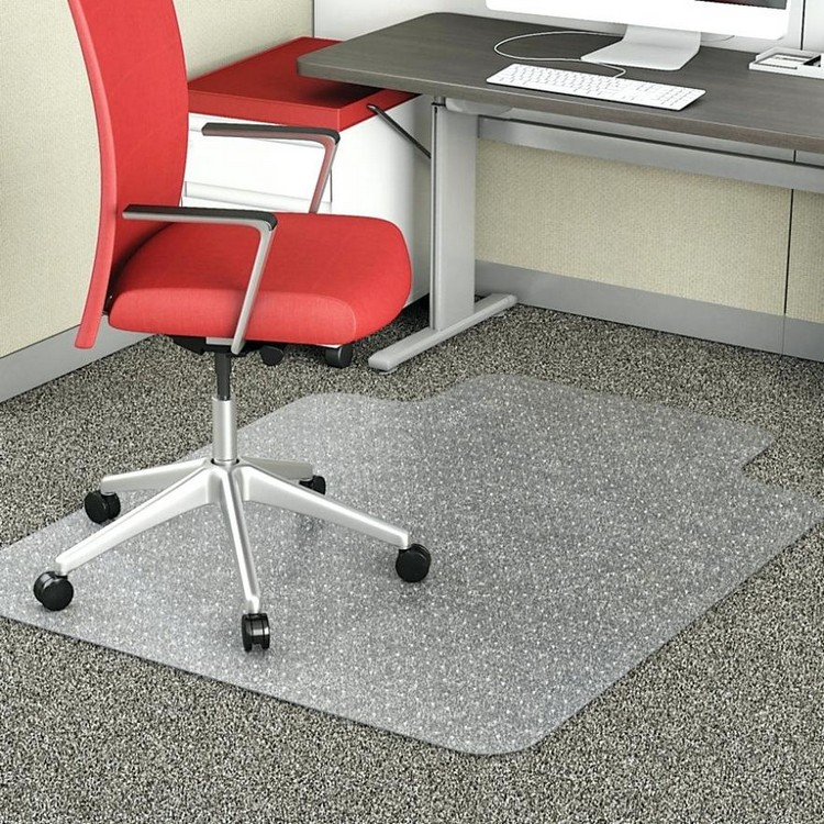 Home Office Pc Desk Anti Slip Clear Dull Polish Spiked Plastic Roll Flooring Door Carpet Chair Floor Mat with Studded Backing