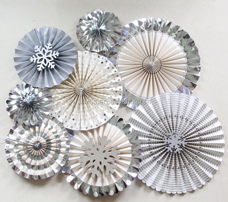 Handmade Craft Paper Large Big Hand Fans Party Pinwheels Winter ...