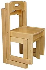 """A+ ChildSupply Birch Stackable Chair - 10"""""""