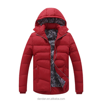 european style men's customize logo winter quilted jacket