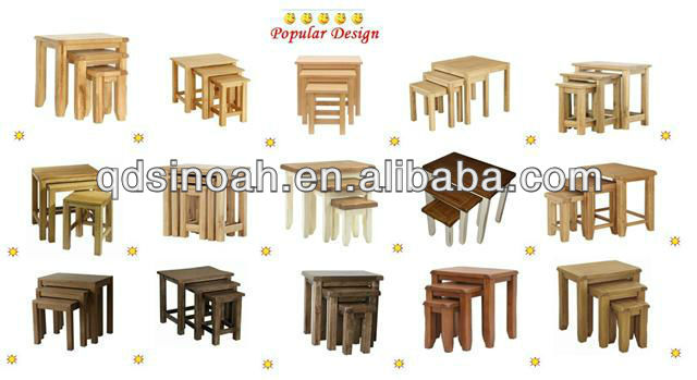 Wood Nesting Tables, Wood Nesting Tables Suppliers And Manufacturers At  Alibaba.com