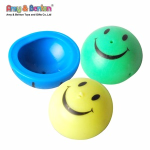 China wholesale promotional happy face rubber jump popper toy