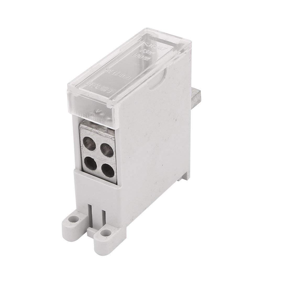 uxcell DZ47 Switch Terminal Wire Barrier Block 1 Inlet 4 Outlet for Miniature Circuit Breakers