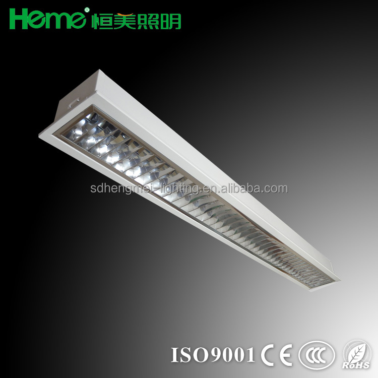 T8 grille lamp lighting fitting troffer