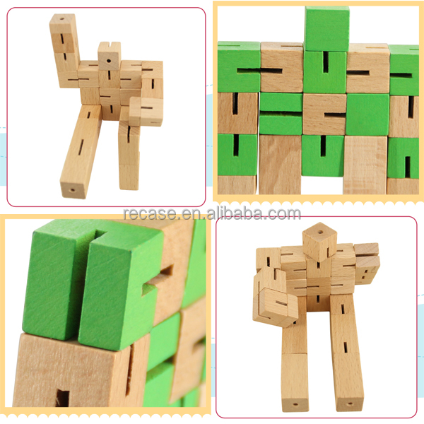 Games made from wood ,wooden robot toy