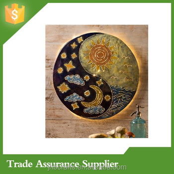 Sun And Moon Yin Yang Metal Wall Art Wholesale Decor - Buy Metal ...