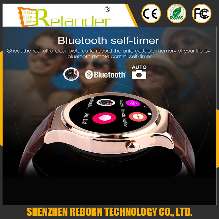 Smart Watch T3 Round Smartwatch with Bluetooth Pedometer Sleep Monitor SIM TF Card Slot Answer Dial Message
