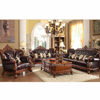 Antique Living Room Furniture French Country Style Sofa Set A89