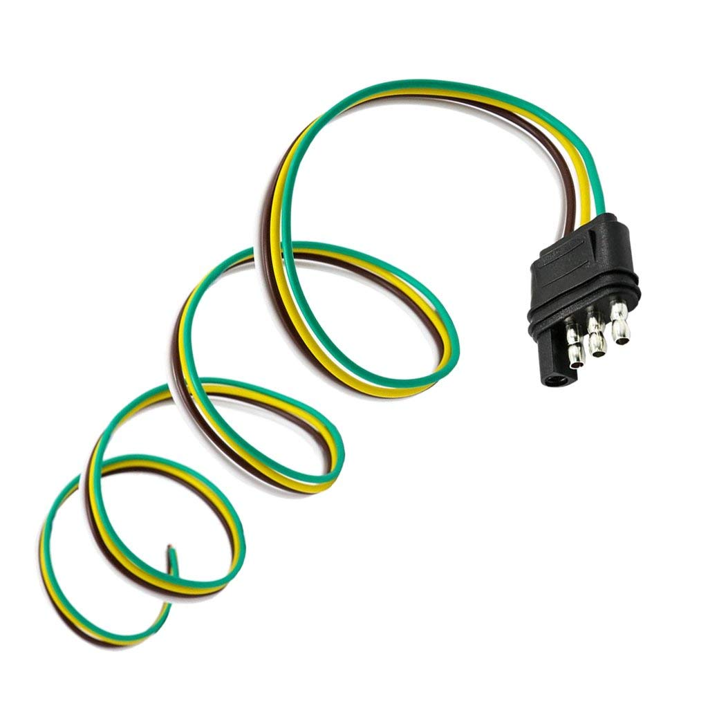 Cheap 4 Wire Flat Trailer Wiring Find Pin Harness Get Quotations Jili Online Plug Light Extension 36