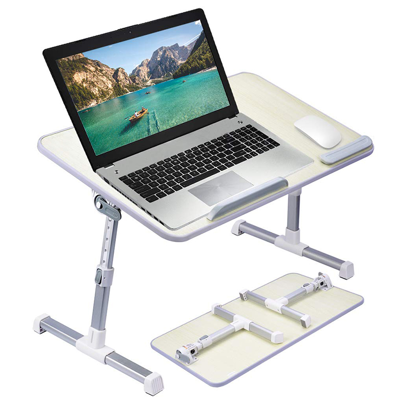 Groothandel Opvouwbare Draagbare Hout Hoogte Verstelbare Bed Laptop Tafel Stand voor 17 Inch Laptop
