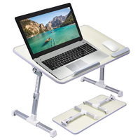 Wholesale Foldable Portable Wood Height Adjustable Bed Laptop Table Stand for 17 Inch Laptop