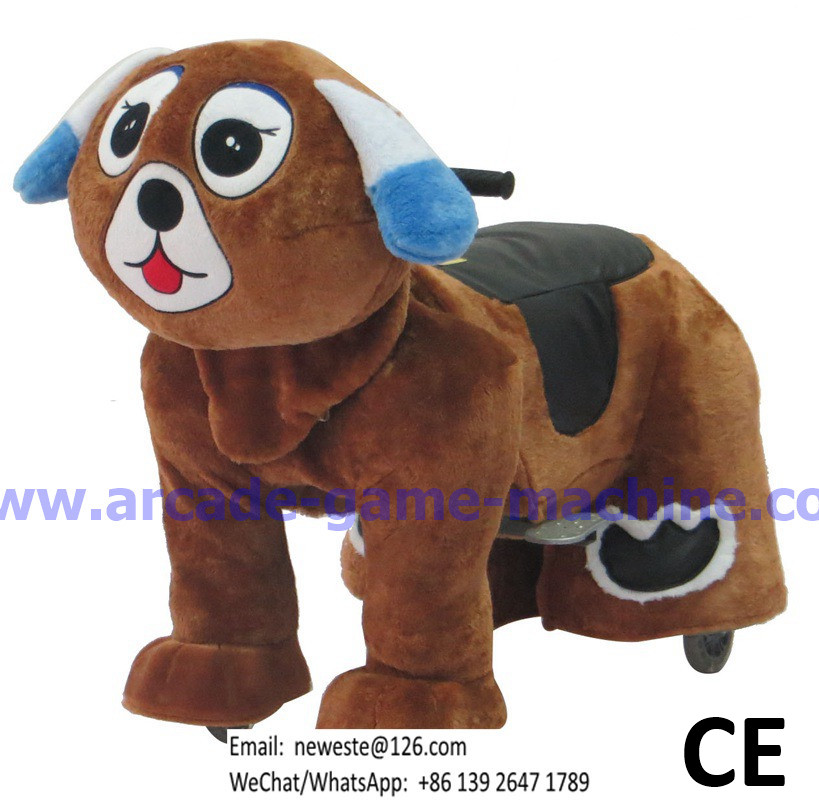 maquinas de juego Animales Battery Coin Operated Stuffed Ride On Animal Toy