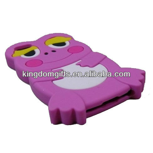 3D cute frog shape silicone phone case for iphone